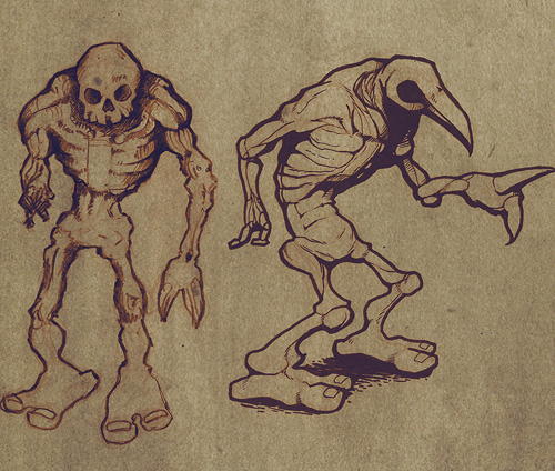 Idle Creations Zombie enemy sketches